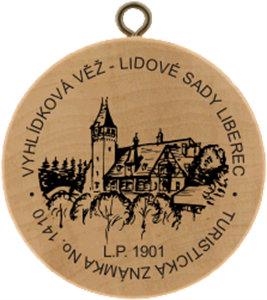 Vyhlídková věž - Lidové sady Liberec