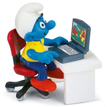 Šmoula u počítače
