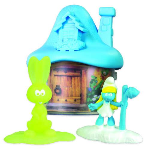 Světle modrý domeček