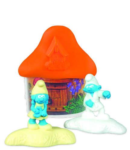 Světle oranžový domeček