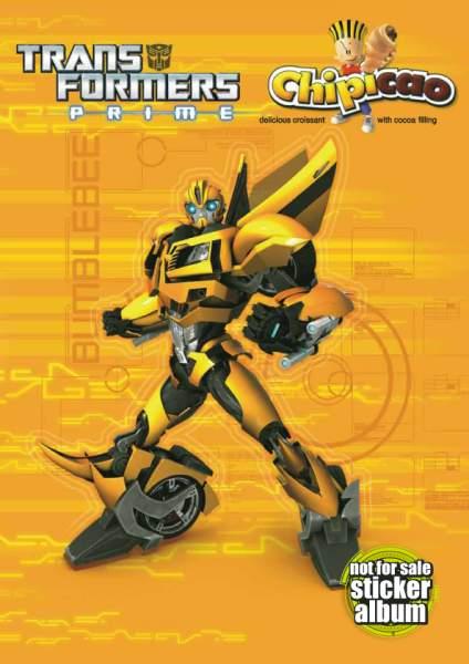 Samolepkové album Chipicao Transformers Prime