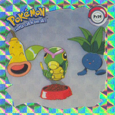 Oddish, Weepinbell a Caterpie
