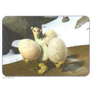 Sid drží vejce