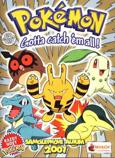 Samolepkové album Pokémon 2001