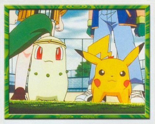 Chikorita a Pikachu