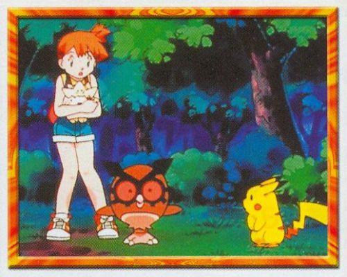 Misty, Togepi, Hoothoot a Pikachu