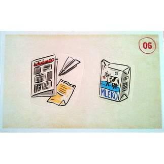 Papír a krabice od mléka