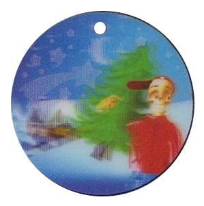 Bertík nese vánoční strom