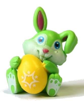 Zelený zajíček s vajíčkem