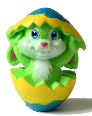 Zelený zajíček ve vajíčku
