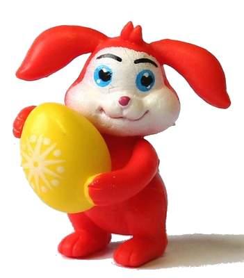 Červený zajíček s vajíčkem