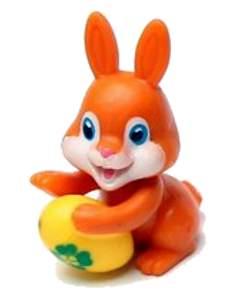 Oranžový zajíček s vajíčkem