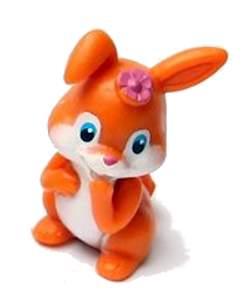 Oranžový zajíček