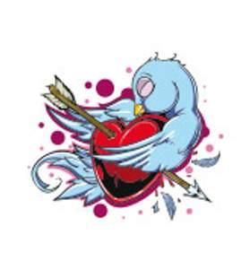 Tetování - Ptáček se srdcem
