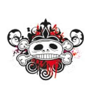 Tetování - Lebka a zkřížené kosti