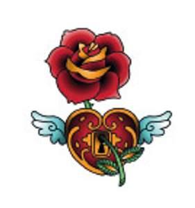 Tetování - Růže se srdcem