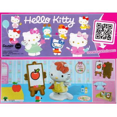 Hello Kitty malířka