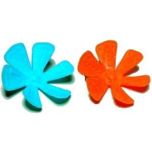 Modrý a oranžový květ