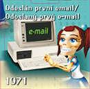 Odeslán první email