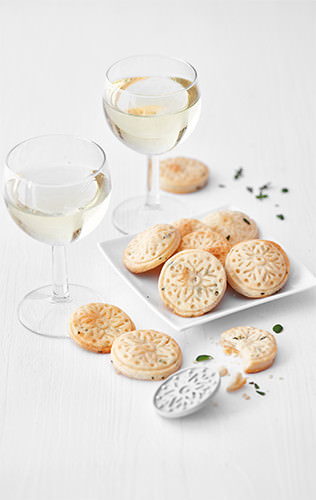 Parmezánovo-tymiánové sušenky