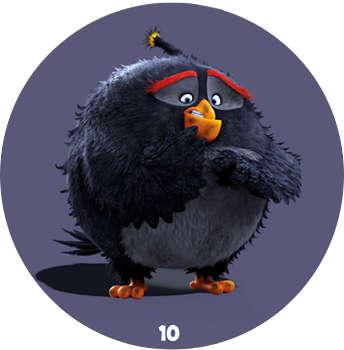 Žeton Angry Birds 2017 č. 10