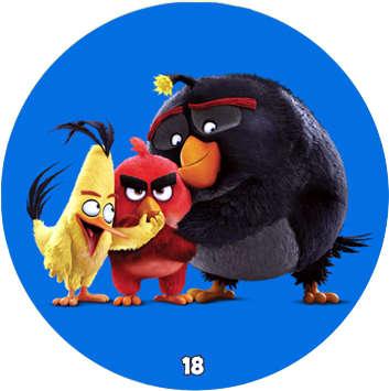 Žeton Angry Birds 2017 č. 18