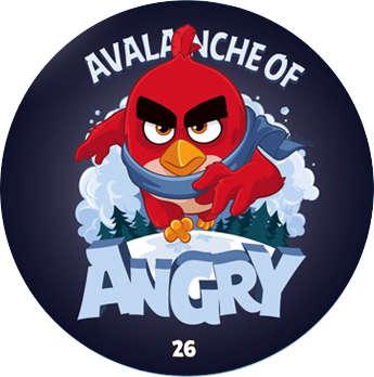 Žeton Angry Birds 2017 č. 26