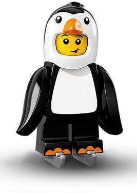 Chlapec v přeleku tučňáka