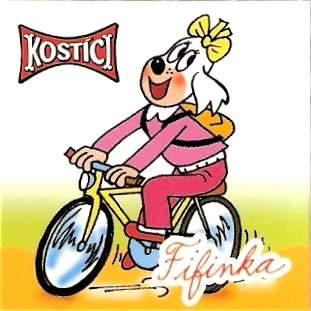 Fifinka jede na kole